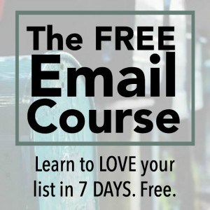 The Free Email Course – Learn to LOVE Your List!