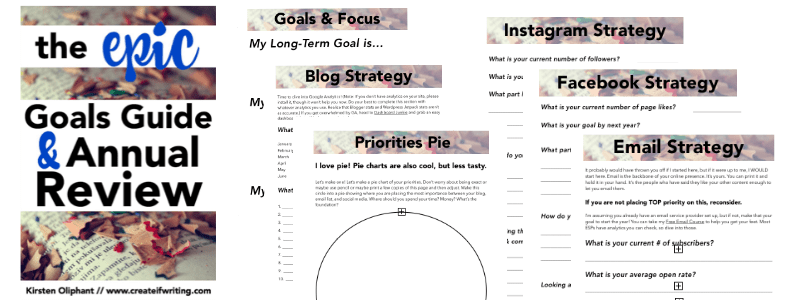 Free Blog planner for 2016