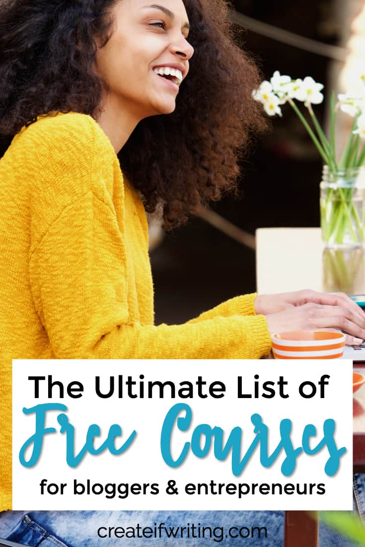 This great list of free blogging courses will help you with your blog, social media, branding, and small business!