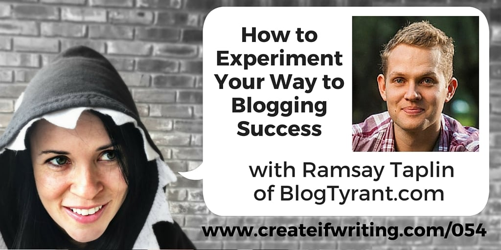 How to experiment with your blog with ramsay taplin