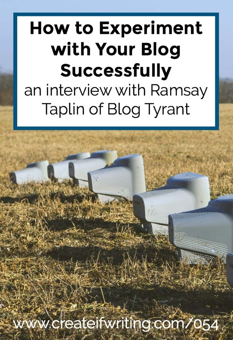 Do you know how to experiment with your blog SUCCESSFULLY? This interview with Ramsay of Taplin of Blog Tyrant shares what he has learned about calculated risks.