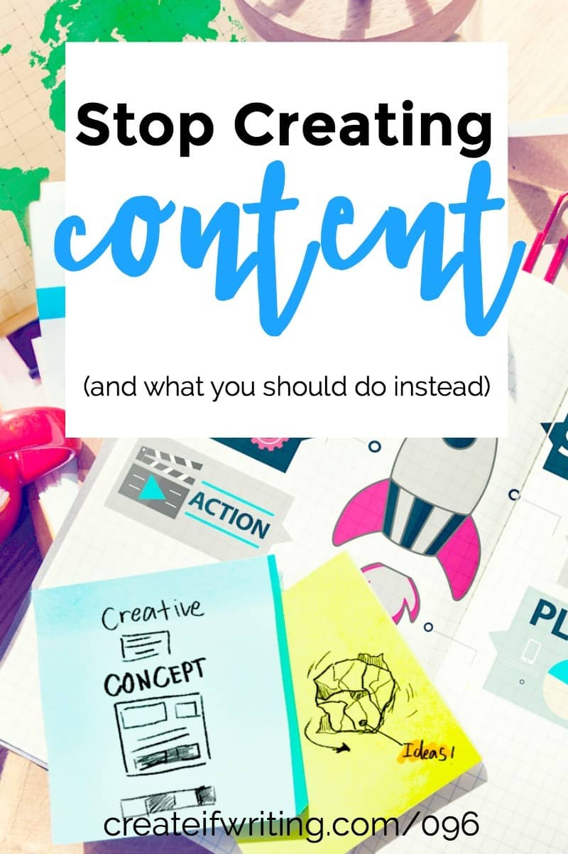 Stop creating content! Two reasons you shouldn't put out so much new content and two things you should do instead.
