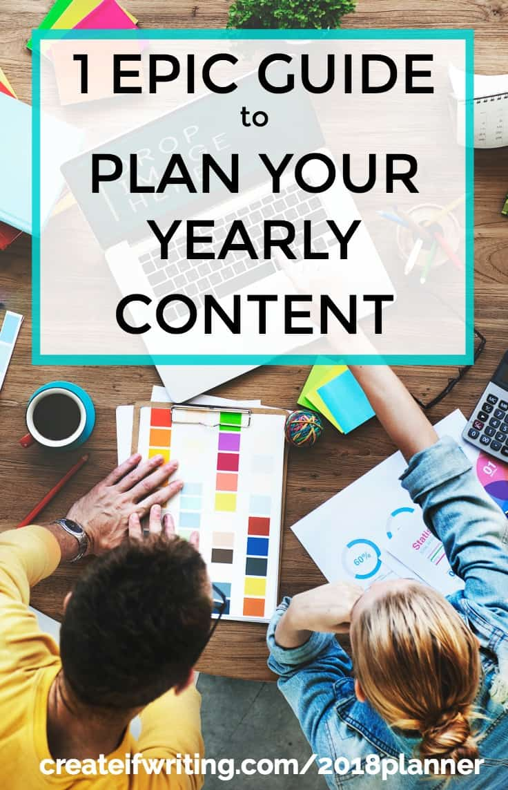 Free printable planner 2018 for content creators, writers, and bloggers
