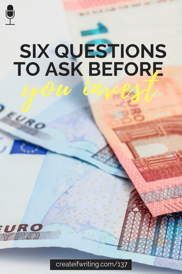 Don't waste your money! Six questions to ask before you invest in your creative business!