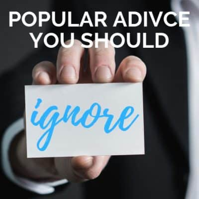 Popular Advice Writers Should IGNORE