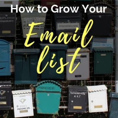 How to Grow Your Email List: Book Launch Pt 4