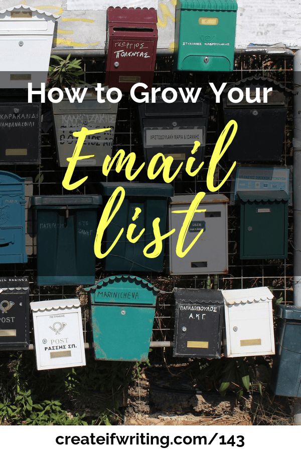 Two simple steps to grow your email list and help launch your book!