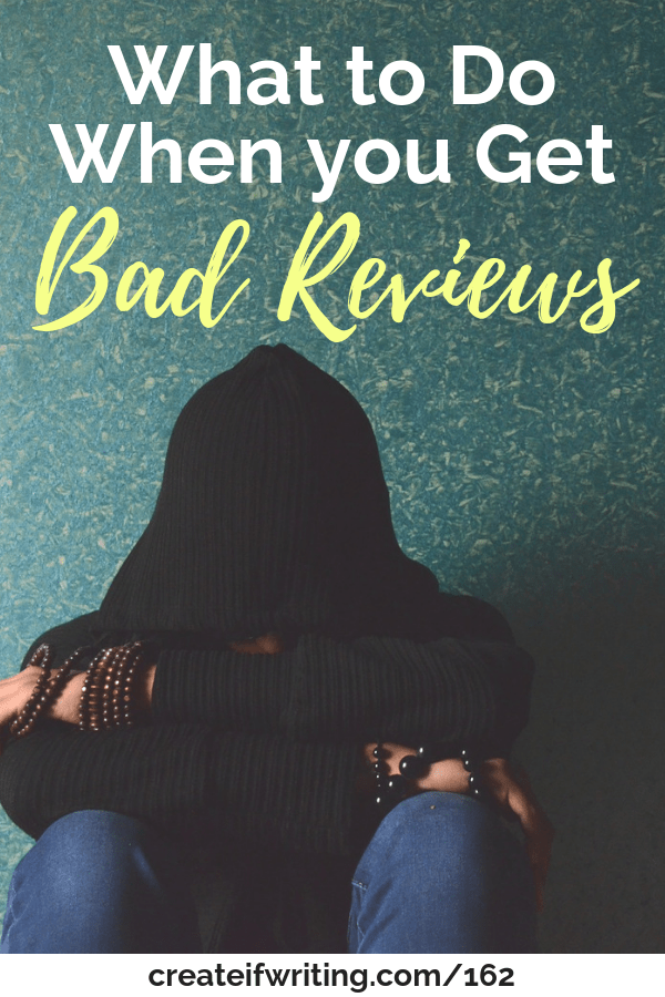 What to do when you get bad reviews on your books!