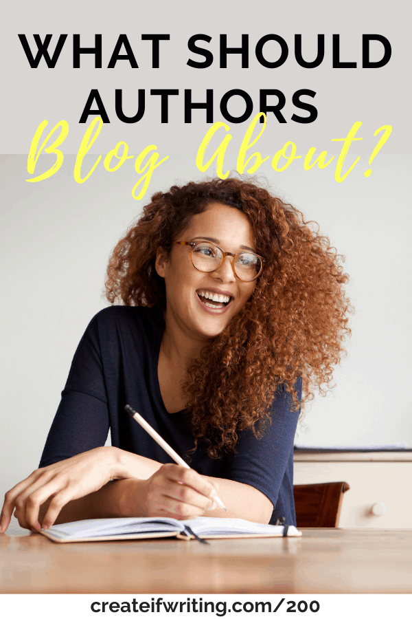 image for what should authors blog about